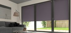 Three Palette Zinc Roller Blinds in a lounge