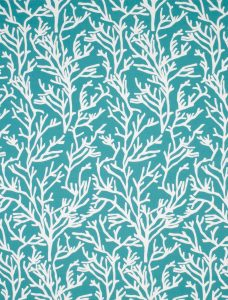Reef Aqua Roman Blind fabric