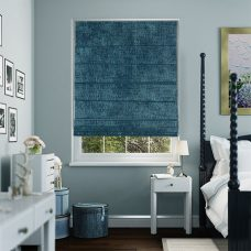Sandbach Sapphire Roman Blind set in recess bedroom window