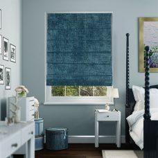 Sandbach Sapphire Roman Blind set in recess bedroom window