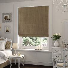 Seville Caramel Roman Blind close up