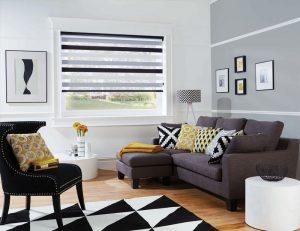 Sorrento Luna Duplex Blind set in a lounge