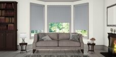 Three Strata Iron Blinds in a lounge