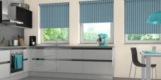 Three Strata Ocean Blinds in a kitchen