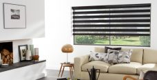Venice Black Duplex Blind set in a lounge