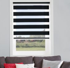 Verona Black Duplex Blind in a recess window