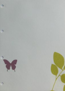 Vine And Butterfly Spring Roller Blind Fabric