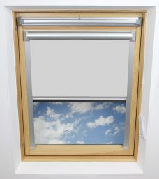 0008 White Solar Skylight Blind