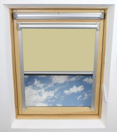 0017 003 Lime Wash Velux Solar Skylight Blind