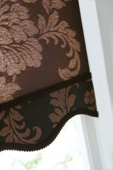 Abelia Umber Roller Blind Close Up