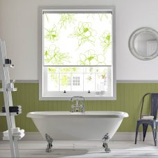 Angelica Apple Senses Roller Blind recess fitted in a bathroom