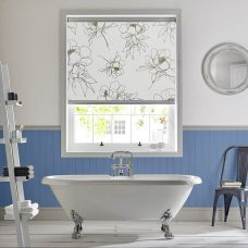 Angelica Night Senses Roller Blind recess fitted in a bathroom