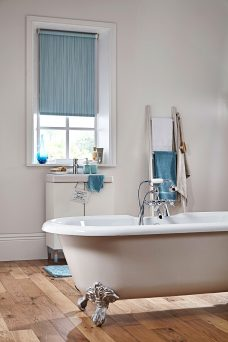 Aqua Safe Ripple Misty Blue Roller Blinds