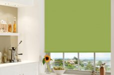 Aqua Safe Lime Roller Blind in a kitchen