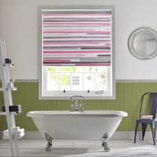 Barcode-linear-pink- Senses roller blind-full