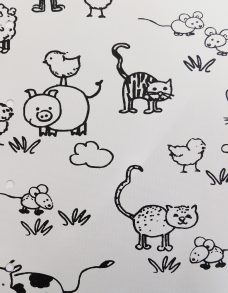 Barnyard Milk roller blinds fabric