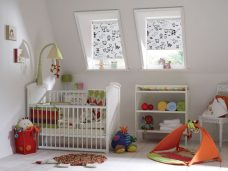 Barnyard Milk Roller Blinds in a nursery