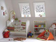 Barnyard Milk Roller Blinds in a nursery