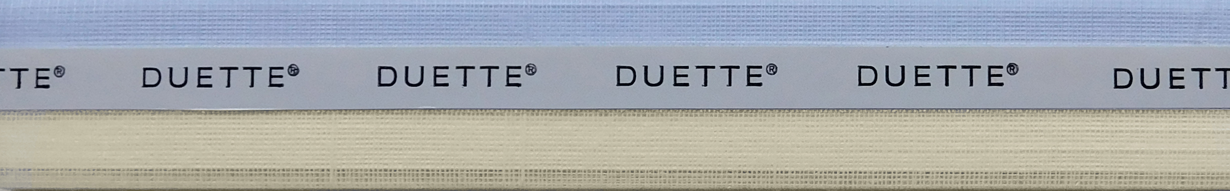 Batiste Sheer Papyrus Duette Blind Sample Fabric