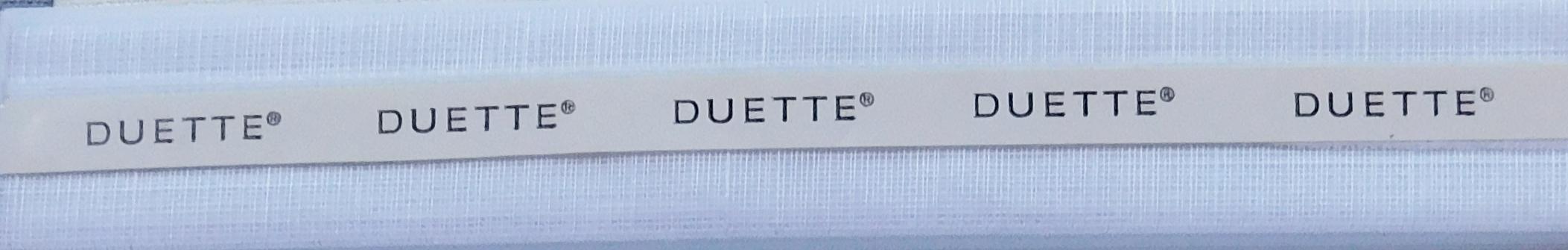 Batiste Snow Duette Blind Fabric Sample