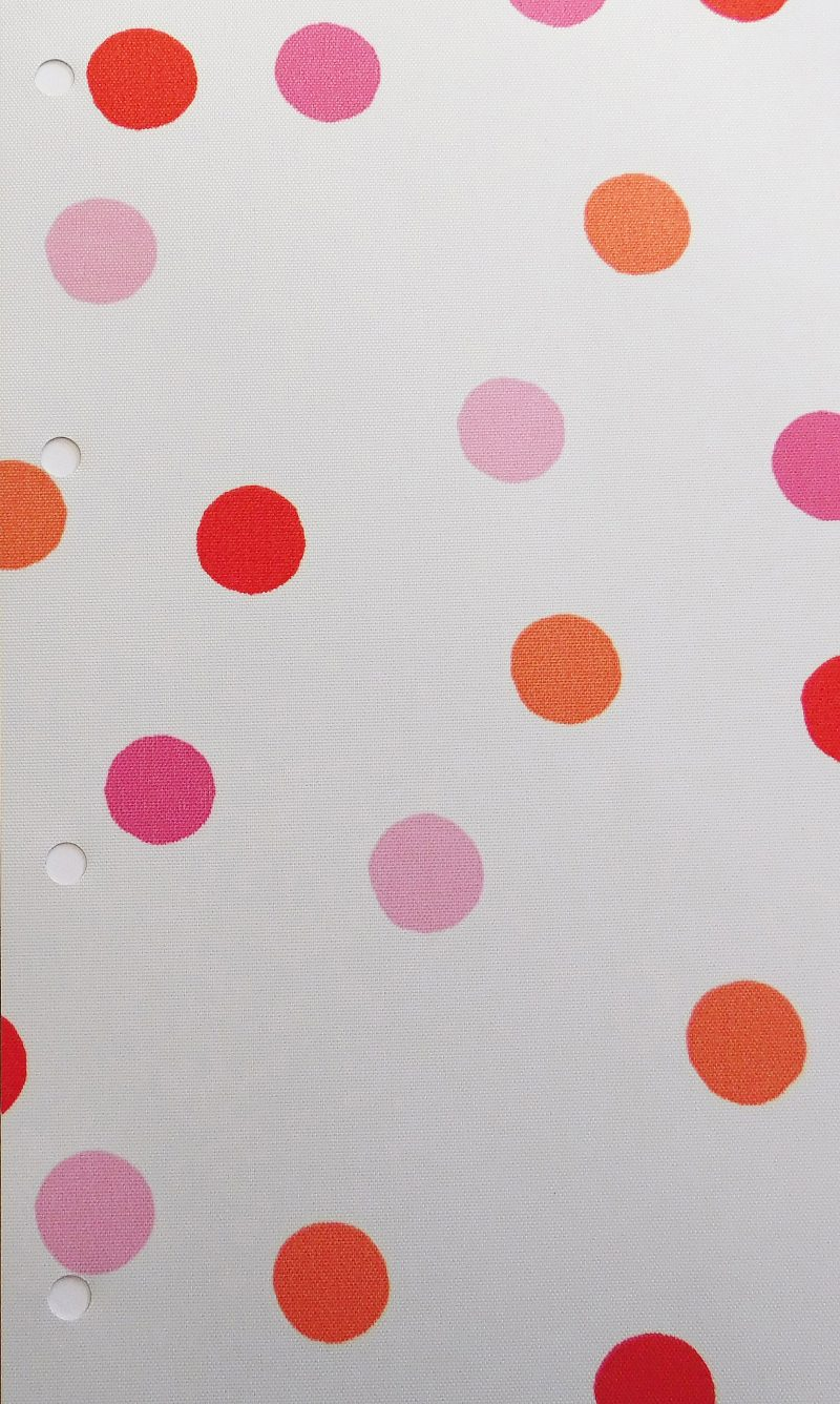 Bubbles Pink Blind Fabric