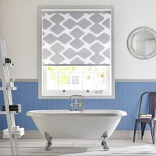 Cellular Cotton Senses Roller Blind in a bathroom setting