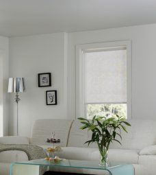 Chantilly Lace White Roller Blind in a lounge