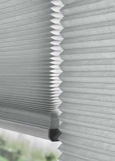 Two Duette Anthracite Blackout 64 mm Blinds