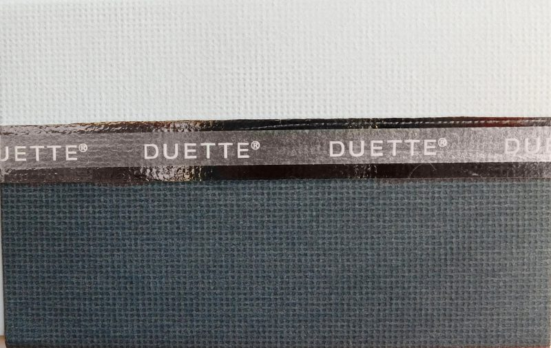 Duette Anthracite Blackout Blind Fabric 64mm