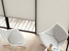 Three Duette Shell Blackout Blinds 64 mm hung side by side
