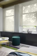 Two Duette Swan Duo Tone Blinds 64 mm set in a recess