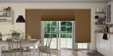 Three Duette Classic Bambi Duo Tone Blinds in kitchen setting
