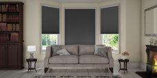 Duette-classic-25 mm-duo-tone-Hematite blinds in a lounge