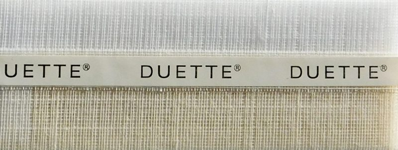 Duette Fixe Sheer Papyrus Batiste Blind Fabric 32mm
