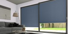 Three Classic Duette Pewter Blackout Blinds 25 mm - Economy Fabric