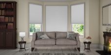 Three Classic Duette White Blackout Blinds 25 mm - Economy Fabric