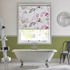 Folia Damson Senses blind in a bathroom