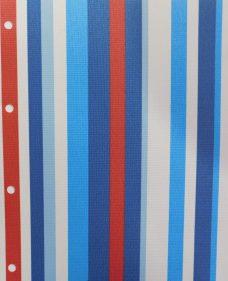 La Di Da Blue blind fabric
