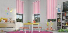 La Di Da Pink Roller Blinds