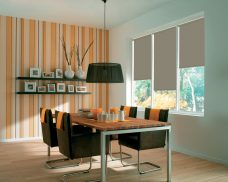Rianna Duo Blackout Creme Caramel Roller Blinds