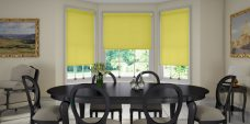 Three Rianna Keyline blinds in a kitchen