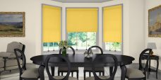 Rianna lemon zest blinds in a dining room