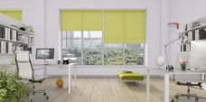 Three Rianna Mojito Blinds in an office