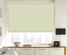 Sol Cream Blackout Roller Blind set in a kitchen