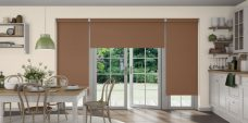 Three Palette Fudge Blinds fitted in a kitchen
