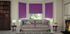 Three Palette Iris Senses blinds in a lounge