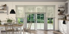 Grey Venetian 0952 P8 perforated blinds in a kitchen