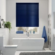 Venetian Blind 9250 Pearlised blue slats in a bathroom