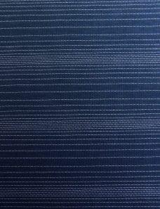 Woven Stripe Navy Roller Blind Fabric