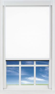 DW1830 PVC White Blocout XL Blind close up